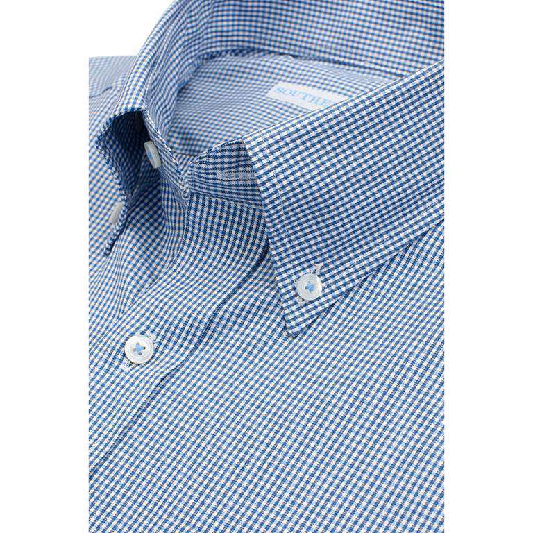 Sea Island Check Classic Fit Sport Shirt in Yacht Blue by Southern Tide  - 2