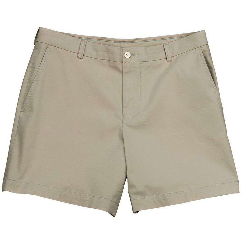 "Channel Marker Classic 7"" Summer Short in Sandstone Khaki by Southern Tide"