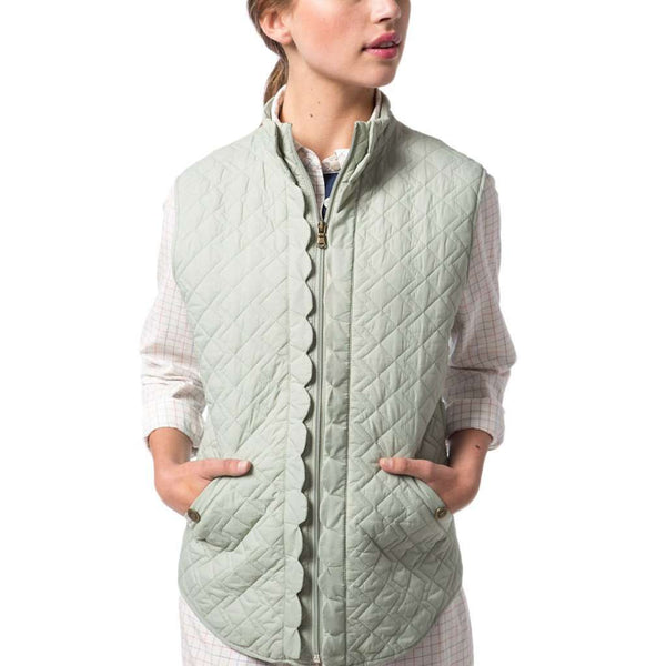 Scallop Vest in Desert Sage by Southern Proper - FINAL SALE