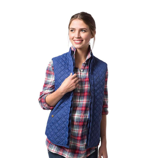 Scallop Vest in Reflecting Pond Navy by Southern Proper  - 1