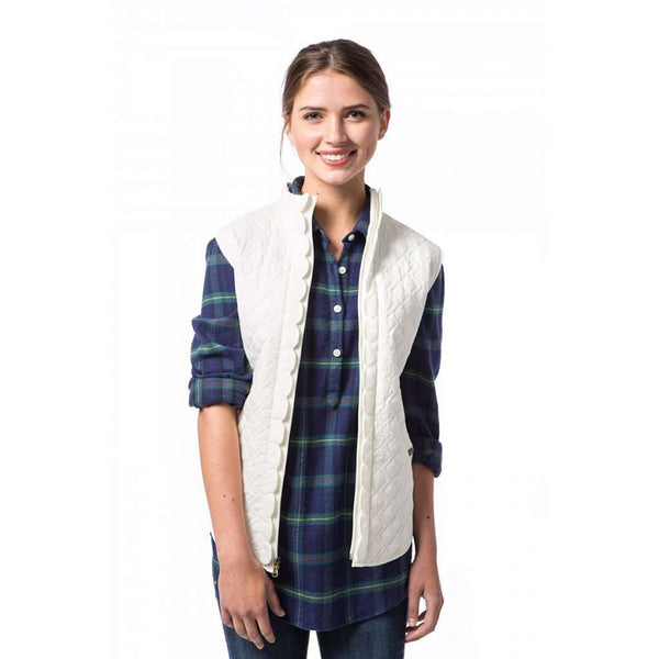 Scallop Vest in Alyssum Cream by Southern Proper  - 1