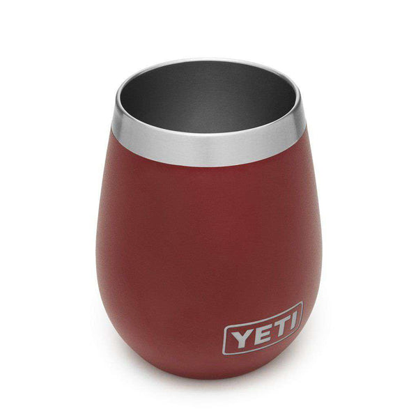 YETI 2 Pack Rambler 10oz Wine Tumbler in Brick Red