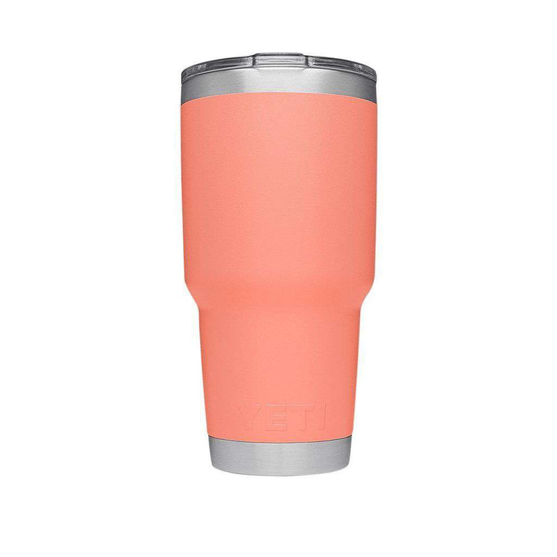 30 oz. DuraCoat  Rambler Tumbler in Coral with Magslider™ Lid by YETI
