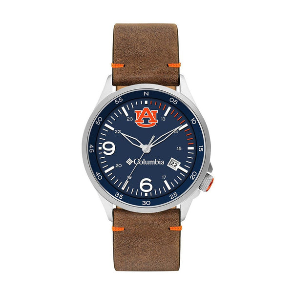 Auburn Canyon Ridge 3-Hand Date Saddle Leather Watch by Columbia Sportswear
