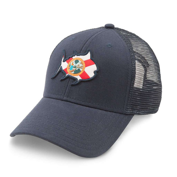 Southern Tide Skipjack Trucker Hat - FL in Navy