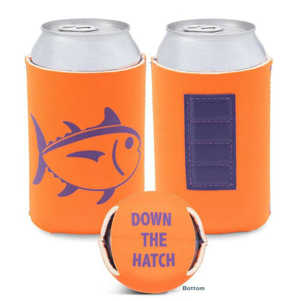 Gameday Magnetic Can Caddie in Enzone Orange & Regal Purple by Southern Tide