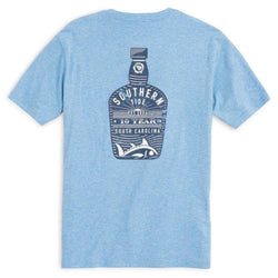 Southern Tide Bourbon Bottle T-Shirt in Ocean Channel by Southern Tide
