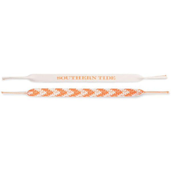 Gameday Skipjack Sunglass Straps in Rocky Top Orange & White by Southern Tide