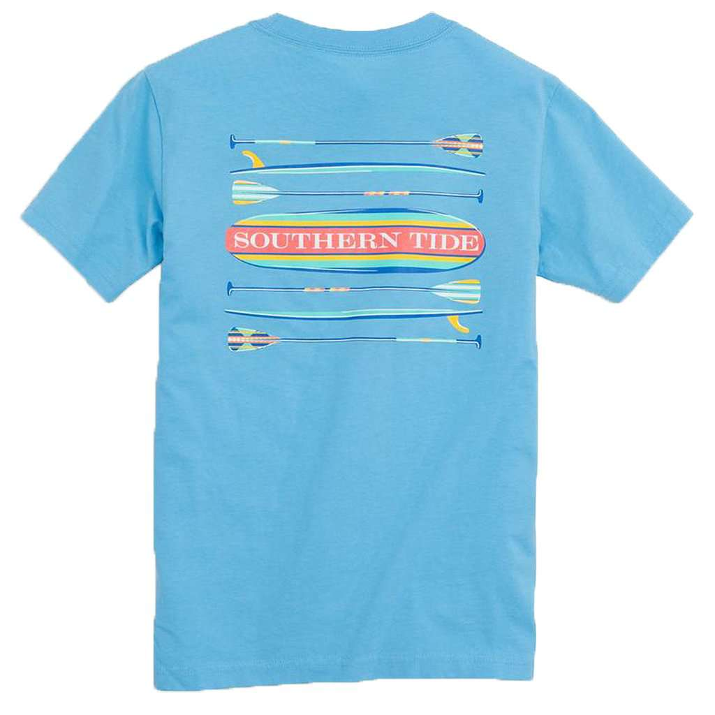 Kids' Keep Paddling T-Shirt in Ocean Channel by Southern Tide