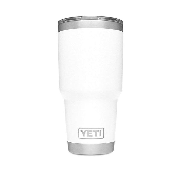 30 oz. DuraCoat  Rambler Tumbler in White with Magslider™ Lid by YETI