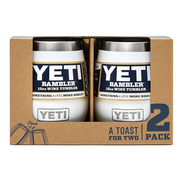 YETI 2 Pack Rambler 10oz Wine Tumbler in White