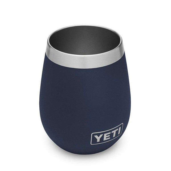 YETI 2 Pack Rambler 10oz Wine Tumbler in Navy