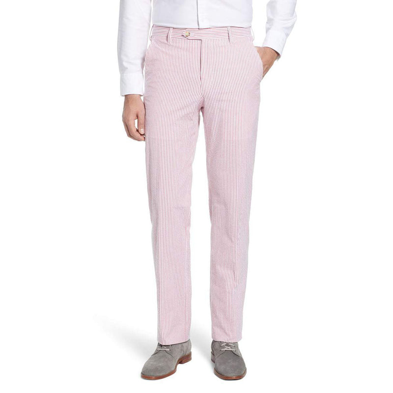 Red Seersucker Pants by Country Club Prep