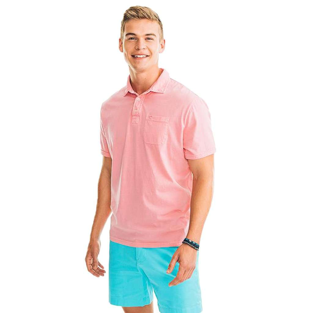 Island Road Jersey Polo in Light Coral by Southern Tide
