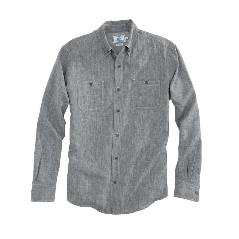 OCEARCH Performance Dock Shirt in Polarized Graphite by Southern Tide