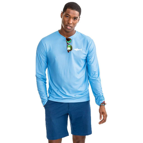OCEARCH Long Sleeve Performance T-Shirt in Ocean Channel by Southern Tide