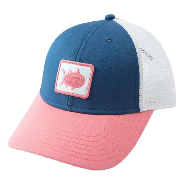 Women's Skipjack Patch Trucker Hat in True Navy by Southern Tide