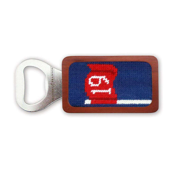 19th Hole Needlepoint Bottle Opener in Classic Navy by Smathers & Branson