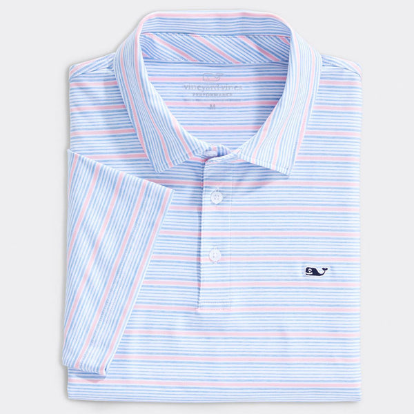 Custom Lake Worth Stripe Sankaty Performance Polo by Vineyard Vines