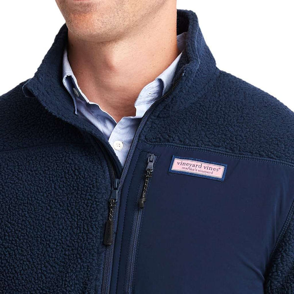 Vineyard Vines Stillwater Chest Pocket Sherpa 1/2 Zip Pullover by Vineyard Vines