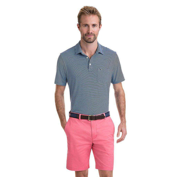 Contrast Feeder Stripe Edgartown Polo in Ocean Breeze by Vineyard Vines