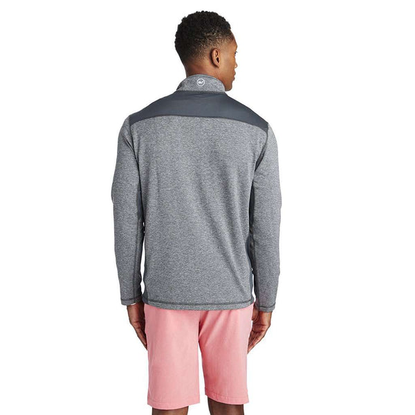 Performance Mesh Back Shep Shirt in Medium Heather Grey by Vineyard Vines