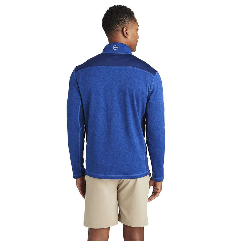 Performance Mesh Back Shep Shirt in Deep Bay by Vineyard Vines
