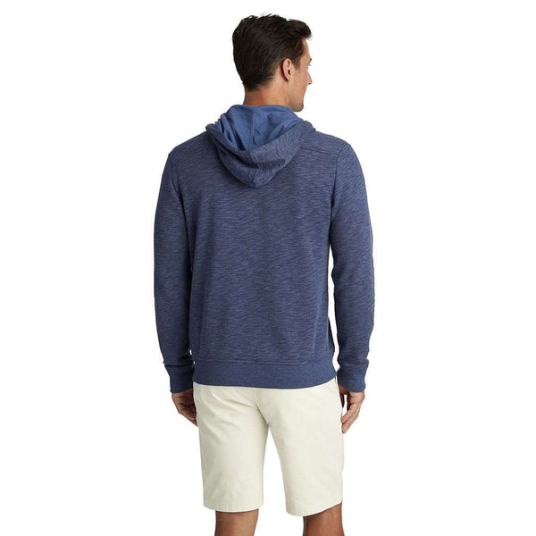 Full Zip Hoodie in Deep Bay by Vineyard Vines