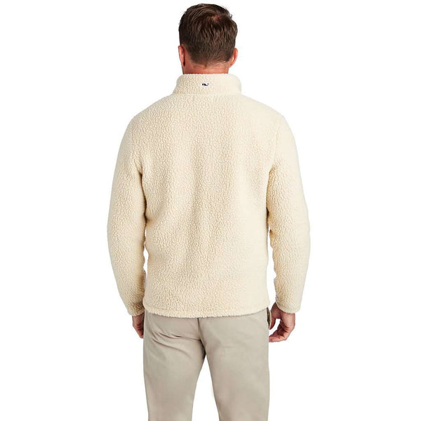 Vineyard Vines Heritage Sherpa 1/2-Zip in Camel