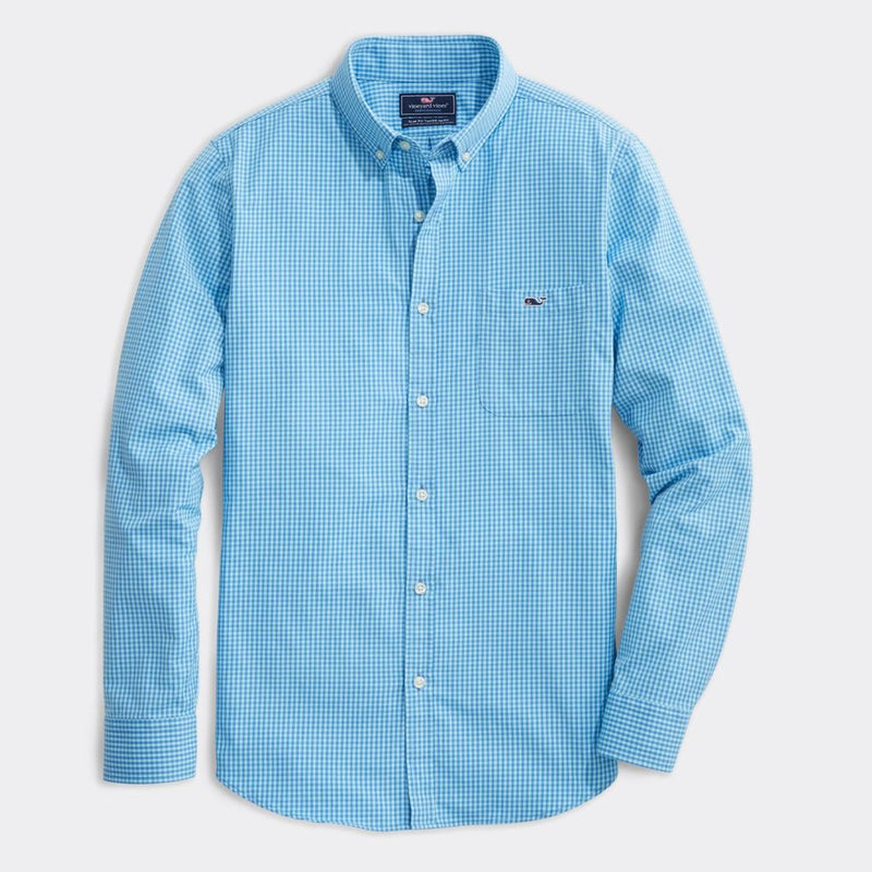 Custom Lemon Shark Performance Slim Tucker Shirt by Vineyard Vines