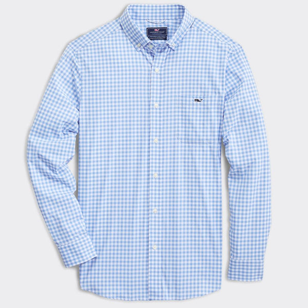 Custom Classic Fit Evernia On-The-Go Performance Tucker Shirt by Vineyard Vines