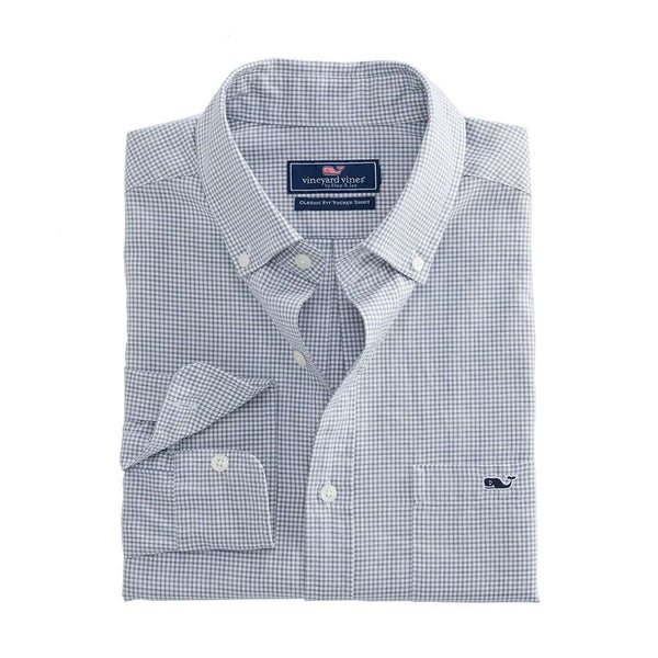 Vineyard Vines Kettle Cove Classic Tucker Shirt in Barracuda