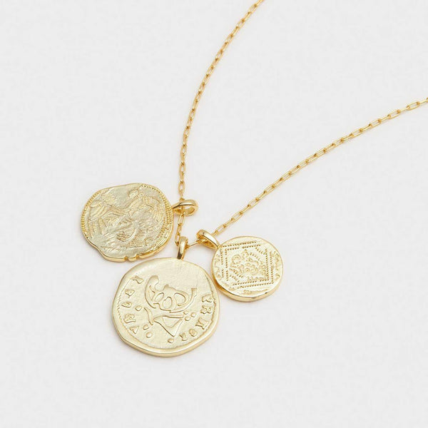 Gorjana Ana Coin Pendant Necklace in Gold by Gorjana