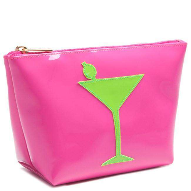 Medium Avery Case in Pink with Green Martini by Lolo - Country Club Prep
