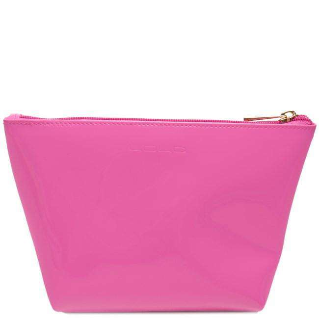 Medium Avery Case in Pink with Green Martini by Lolo - FINAL SALE