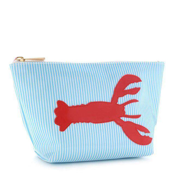 Medium Avery Case in Blue Stripe with Red Lobster by Lolo