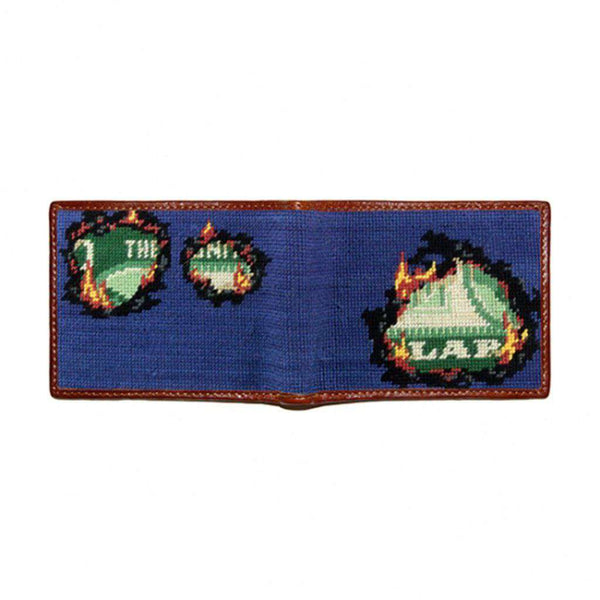 Smathers and Branson Burning a Hole Needlepoint Bi-Fold Wallet by Smathers & Branson