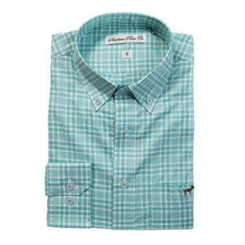 The Hadley Shirt in Emerald Check by Southern Point Co.