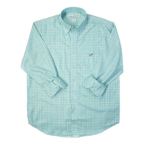 The Hadley Shirt in Emerald Check by Southern Point Co. - FINAL SALE