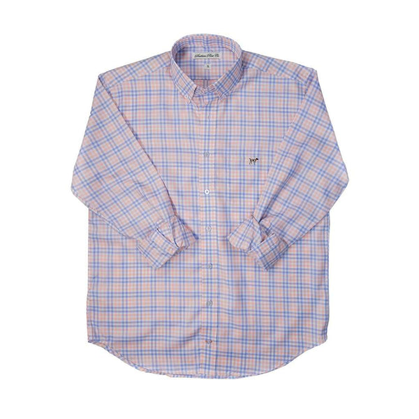 The Hadley Shirt in Sherbert Tattersall by Southern Point Co. - FINAL SALE