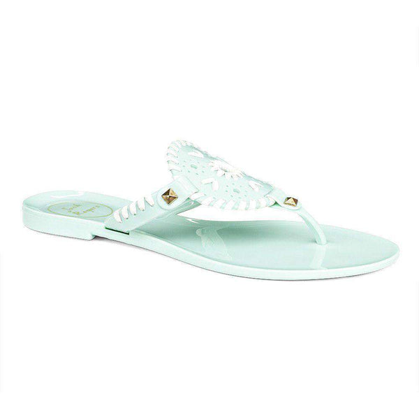 Georgica Jelly Sandal in Mint and White by Jack Rogers