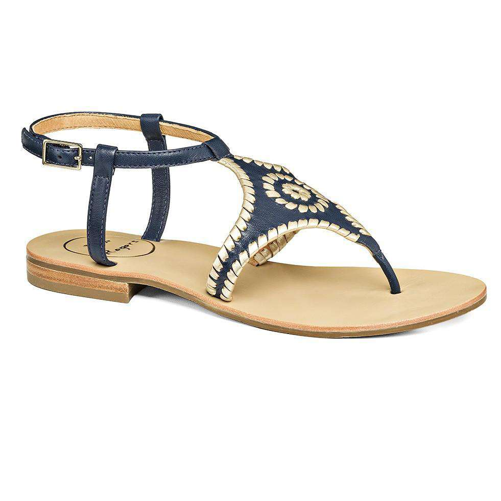 Maci Sandal in Midnight and Platinum by Jack Rogers