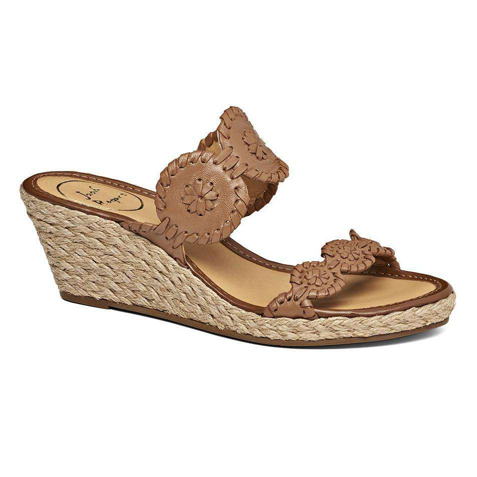 Shelby Wedge Sandal in Cognac by Jack Rogers