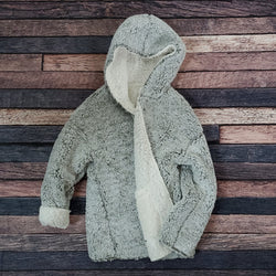 Scarborough Reversible Sherpa Hooded Cardigan by Nordic Fleece