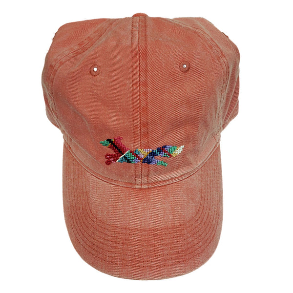 Longshanks Needlepoint Hat in Nantucket Red by Smathers & Branson