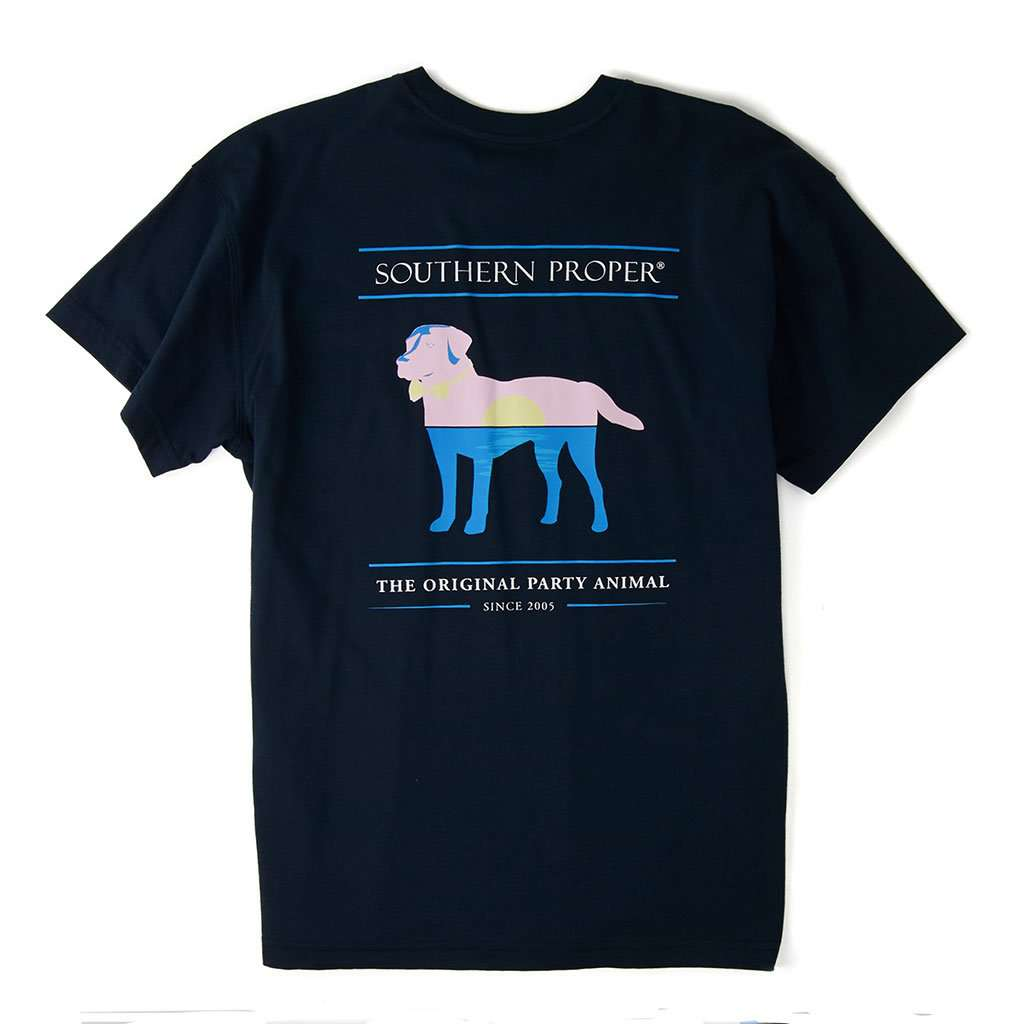 Southern Proper Sunset Party Animal Tee in Blueberry