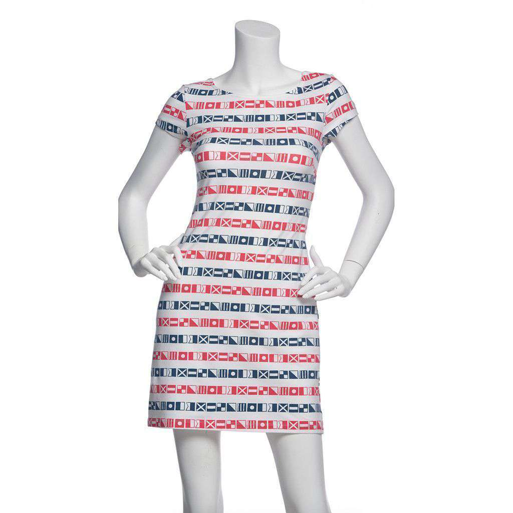 Addie Dress in Red Stripe by Mahi Gold