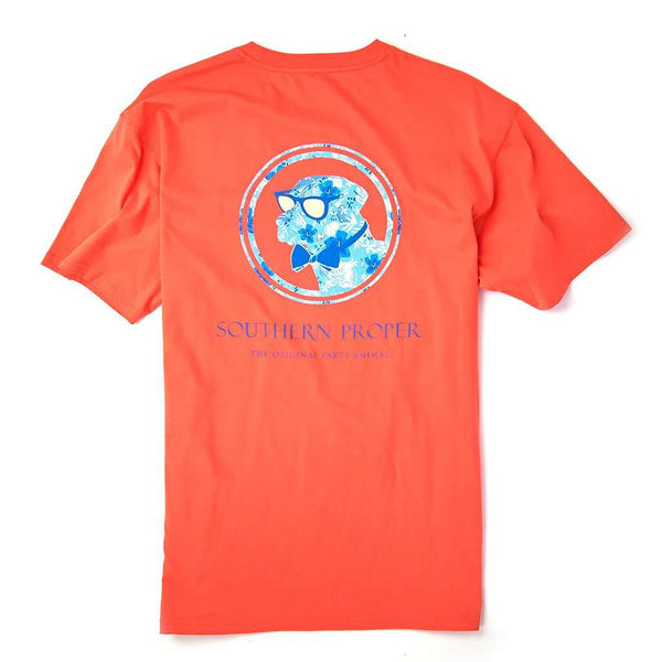 Southern Proper Island Dog Tee in Persimmon