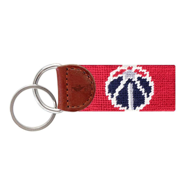 Smathers & Branson Washington Wizards Needlepoint Key Fob in Red