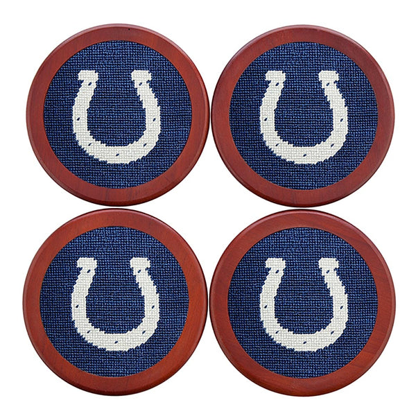 Indianapolis Colts Needlepoint Coasters by Smathers & Branson